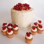 Arrangement Mini Cupcakes und Torte mit Beeren. Foto: Anett Noster White Rabbit