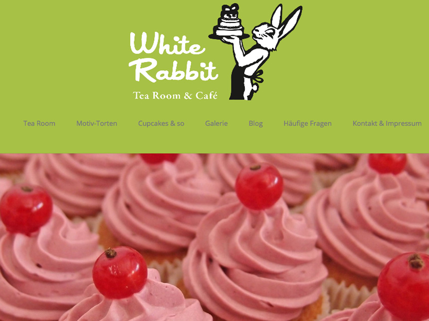 Screenshot Homepage White Rabbit Bremen